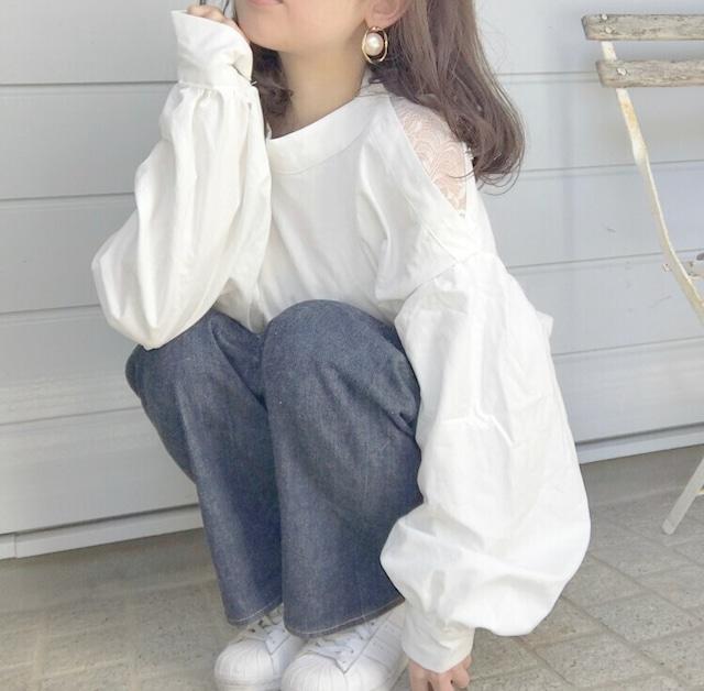 one shoulder button blouse 2 [2103-55]