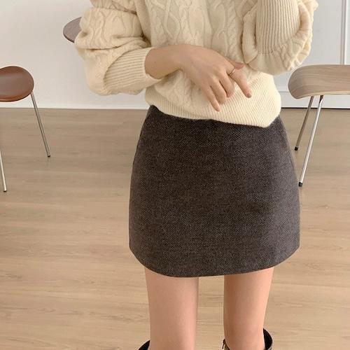 シンプル台形ミニスカート U6301