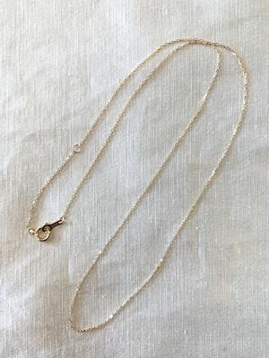 K18製 繊細チェーンネックレス 40cm