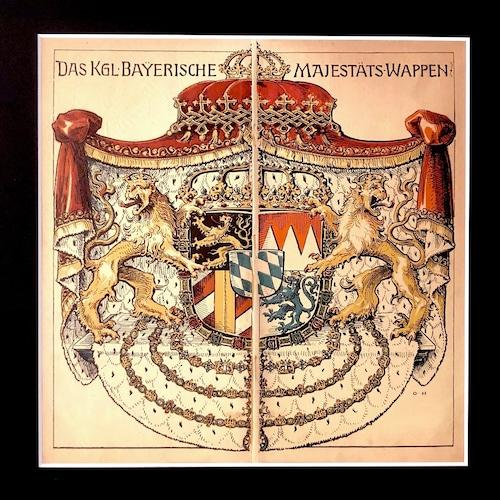 ミュンヘンカレンダー額装1906