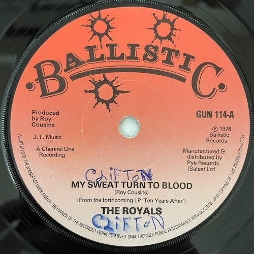 The Royals - My Sweat Turn To Blood【7-20788】