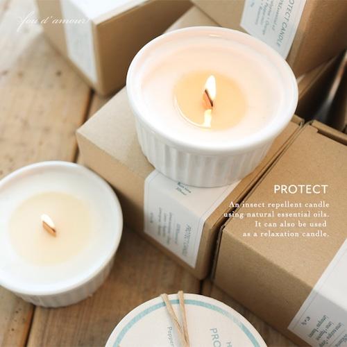 【残り1個】木芯の虫除けキャンドル-Protect Candle-