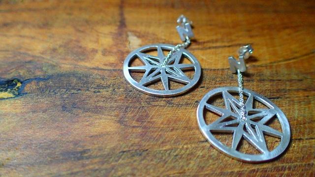 Silver Compass ピアス