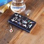 Amijed+BLUEWHITE 手帳型スマホケース ブラック