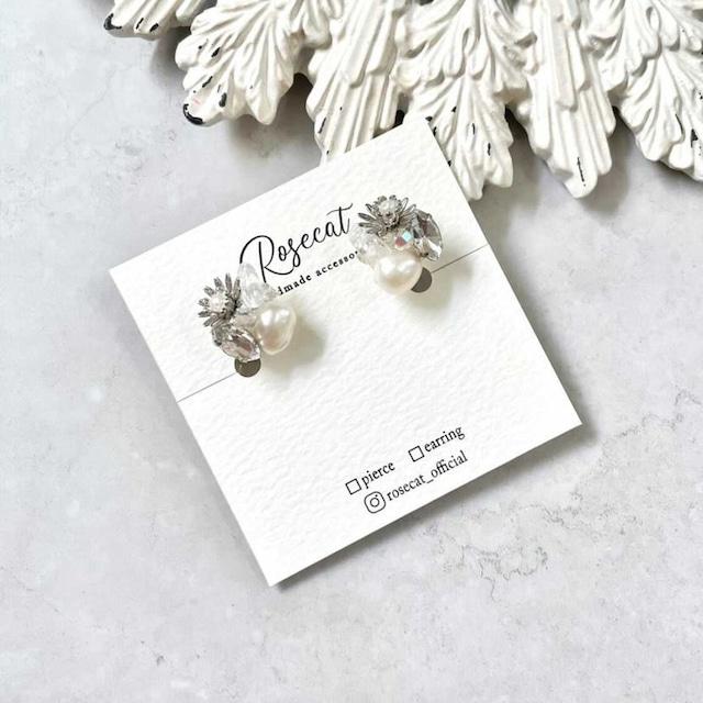 Blue daisy earring【RH0004】