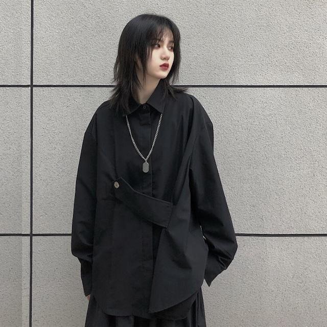 【トップス】ファッション暗黒系長袖ルーズイレギュラーシャツ52178294
