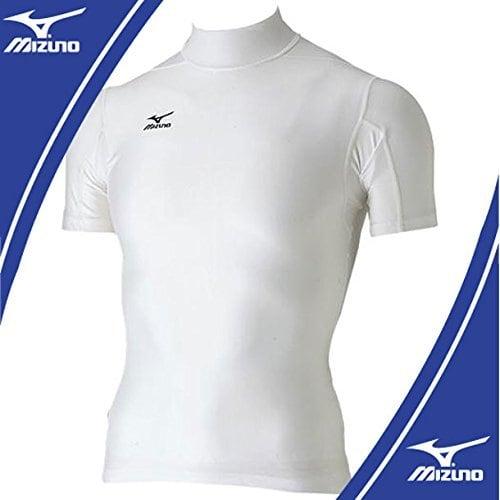 mizuno バイオギア ハイネック 半袖シャツ ホワイト