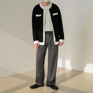 Edge line cardigan jacket   b-446