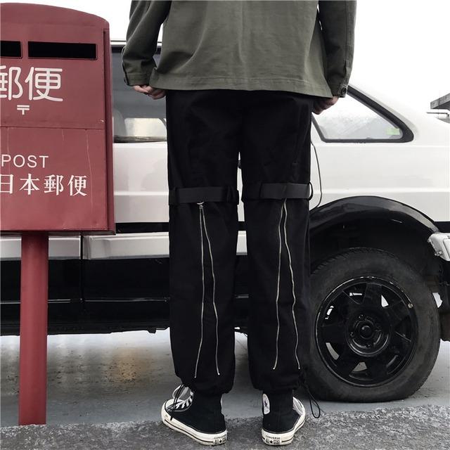 【ボトムス】シンプル無地ローウエストレギュラー丈カジュアルパンツ43006880
