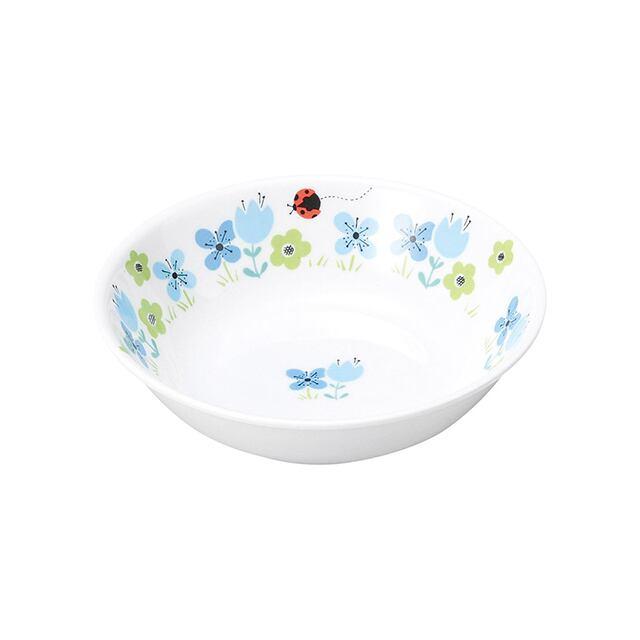 強化磁器 12.5cm 深小皿 ブルーメ・ブルー【1159-1330】