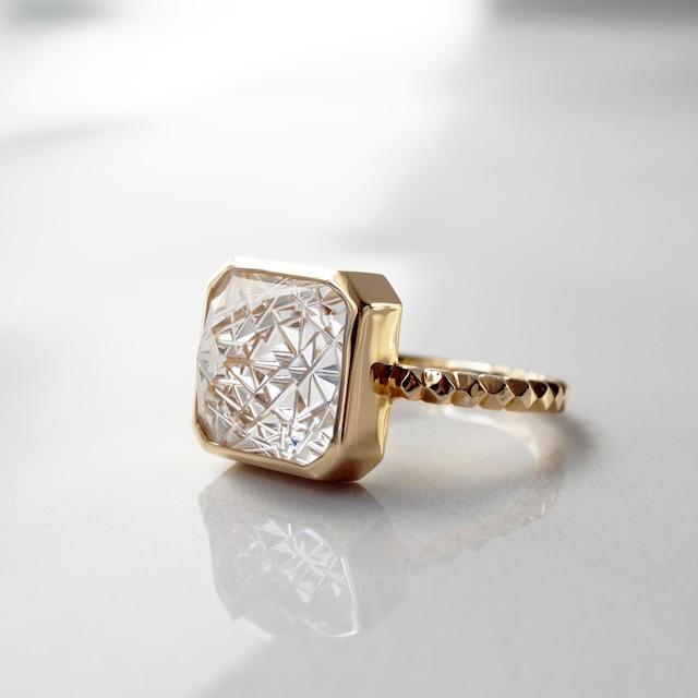Quartz KIRIKO Ring  (Square10 / R173-CQ)