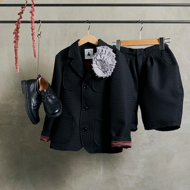 5.【レンタル】3つボタンスーツ(ブラック・Lサイズ130~140)