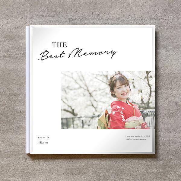 Simple white-成人式_A4スクエア_10ページ/20カット_クラシックアルバム(アクリルカバー)