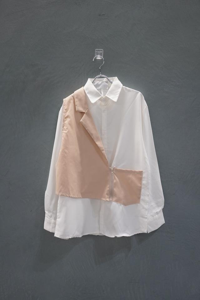 【再入荷】℃℃℃  Switch shirt White×beige