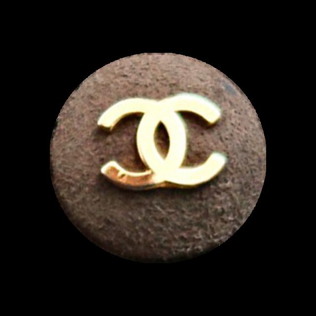 【VINTAGE CHANEL BUTTON】ゴールドココマーク ボタン スエードブラウン C-21052