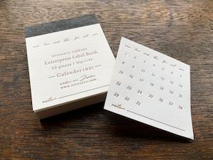 【活版印刷】Label book(Calendar 月日)niconecoコラボ
