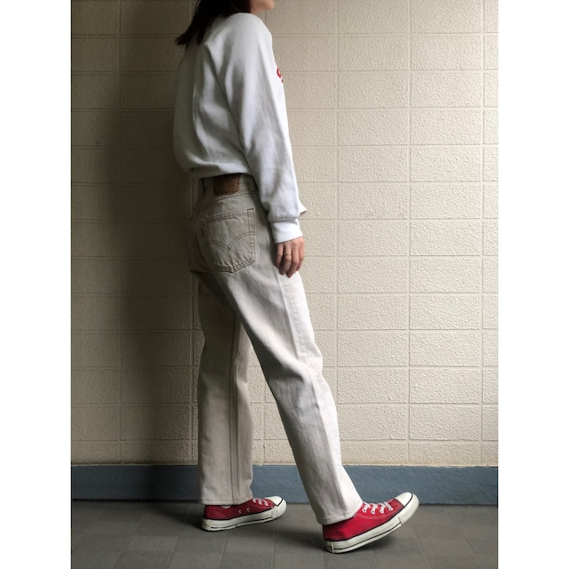 US Levis 501 off-white