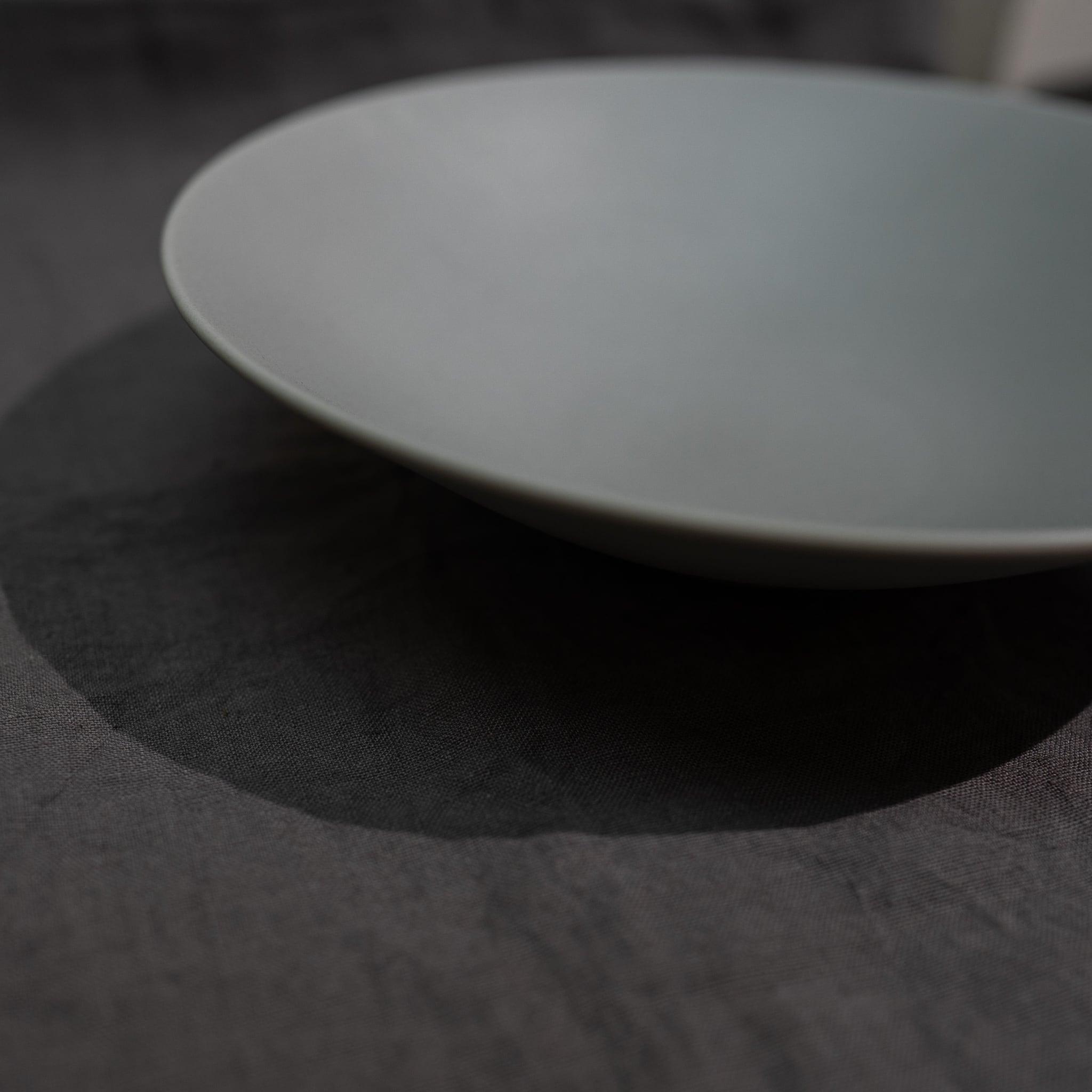 Stoneプレート クープ皿 (リッチグレー) 26㎝