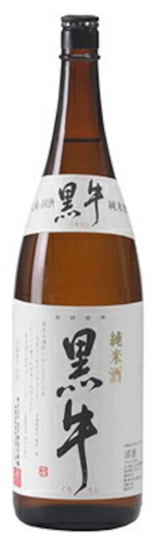 【名手酒造店】黒牛 純米酒 1800ml
