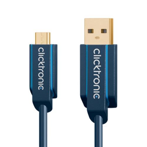 (64003)マイクロUSB 2.0ケーブル 1.0m :: Clicktronic