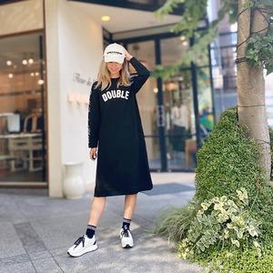 DOUBLE STANDARD CLOTHING(ダブルスタンダードクロージング) 杢インレーニットワンピース 2021秋冬新作  [送料無料]