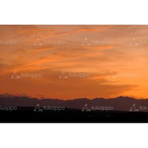 日高山脈の夕焼け