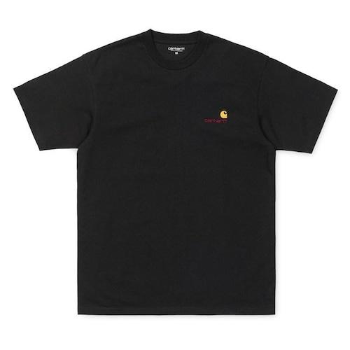 【Carhartt WIP】 S/S AMERICAN SCRIPT T-SHIRT - Black カーハート 半袖 Tシャツ