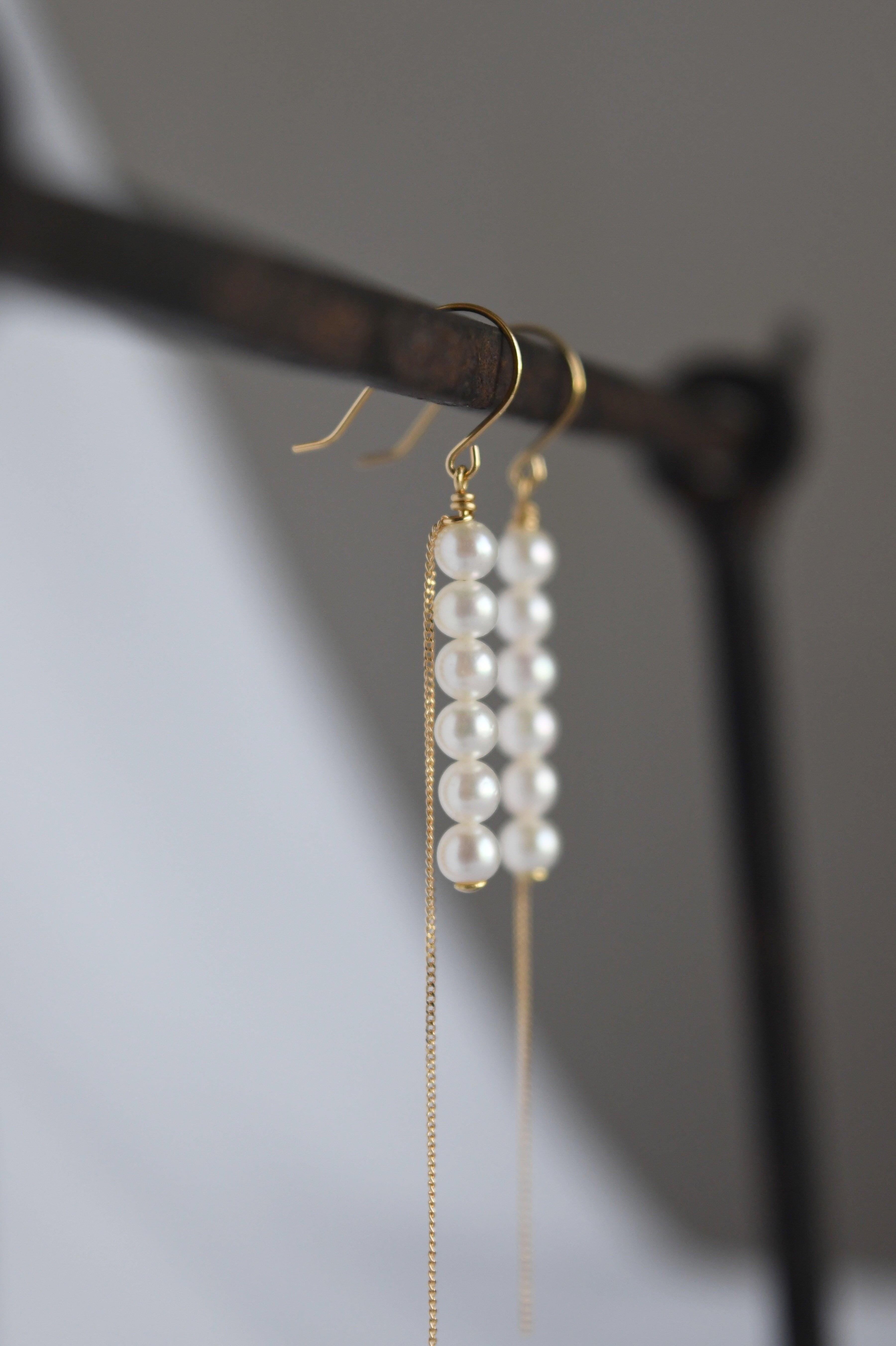 K18 Baby Akoya Pearl Earrings 18金ベビーアコヤ真珠ピアス/イヤリング