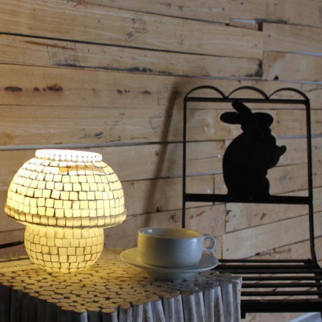 TOPANGA Lighting モザイクガラスマッシュルームスタンドランプ プレーン