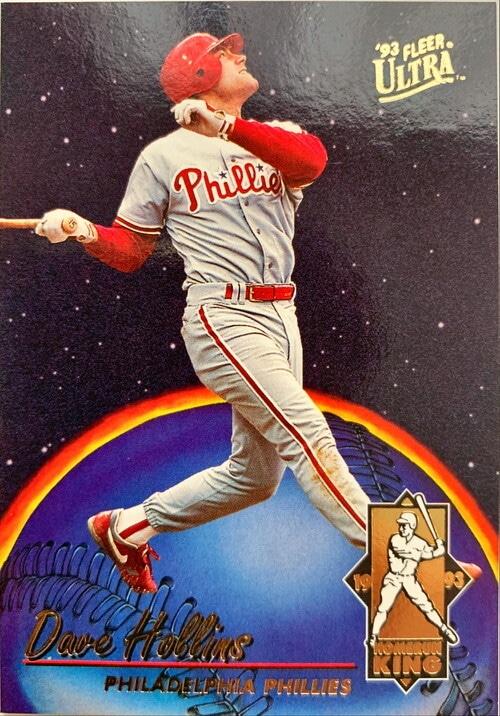 MLBカード 93FLEER Dave Hollins HOMERUN KING #010 PHILLIES