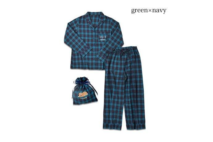 ルームウェア ネルチェックパジャマ上下セット