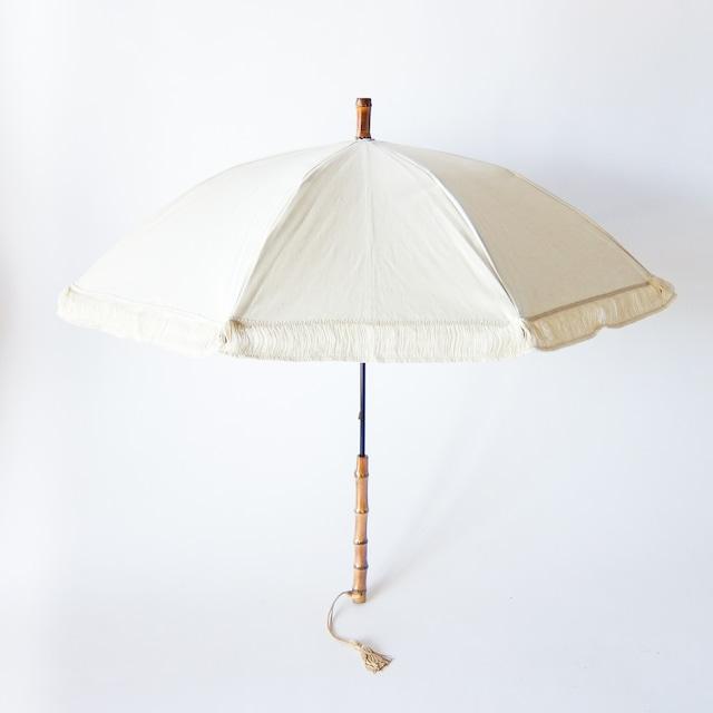 傳 tutaee - ツタエノヒガサ きつねのたすき - 長日傘 - 生成りフリンジ