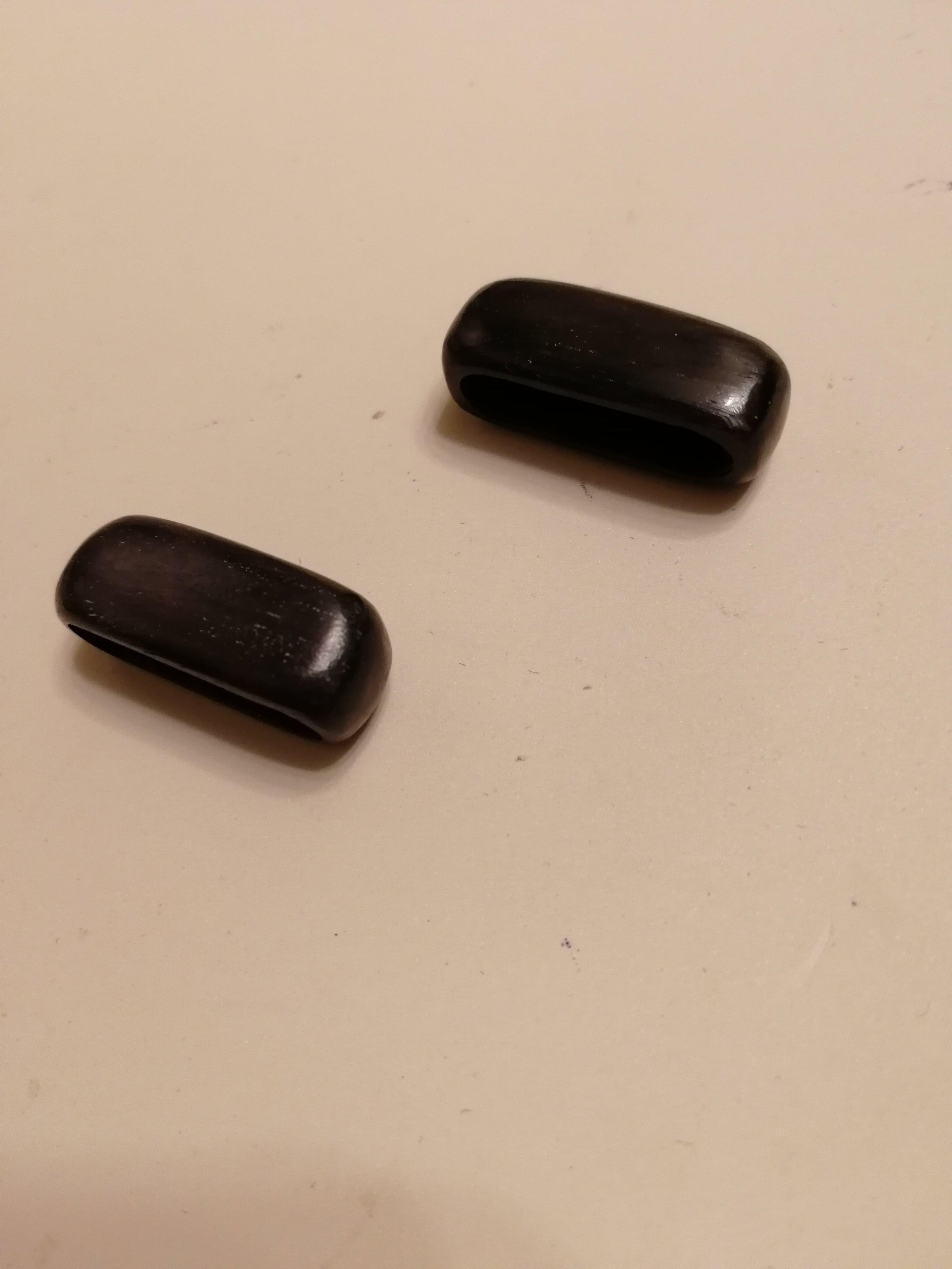 バングル用エンドキャップ2個..黒.22㎜☆ナンタケットバスケット