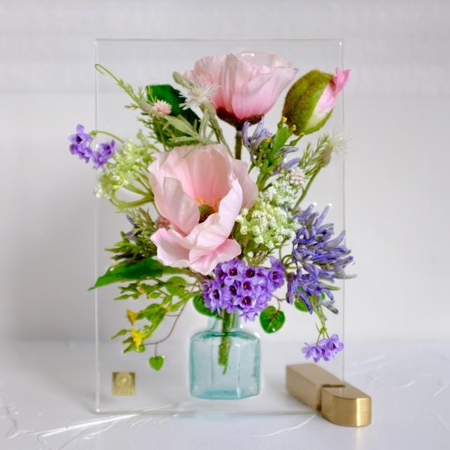 sumika S ポピー ピンク アンティーク花瓶シリーズ