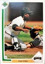 MLBカード 91UPPERDECK Jose Uribe #207 GIANTS