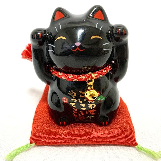 彩絵福招き猫(茶ぶち・小)