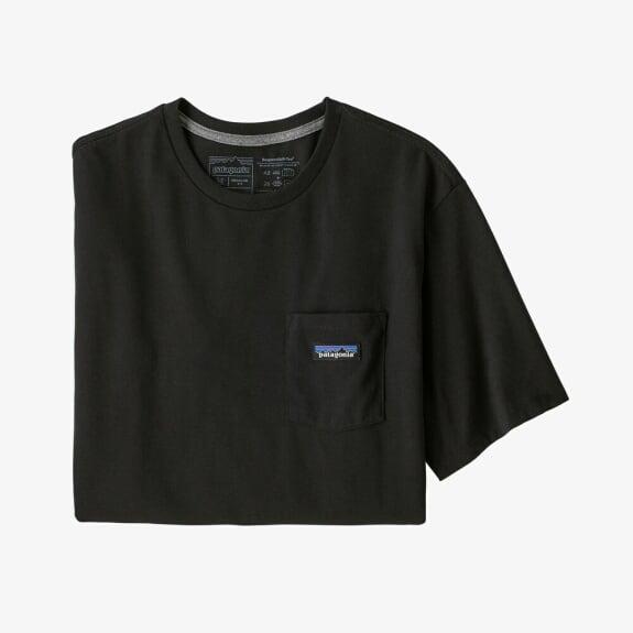 パタゴニア PATAGONIA Tシャツ 半袖 メンズ P-6ラベル  ポケット レスポンシビリティー 37406 BLACK【正規取扱店】