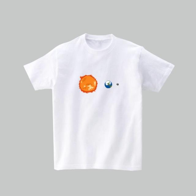 宇宙Tシャツ-月食(ホワイト)