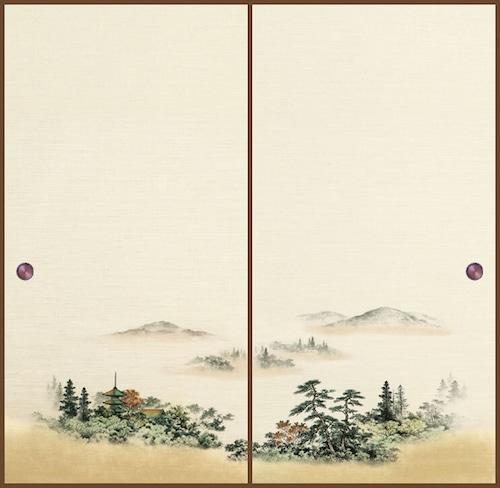 吉兆101(2枚柄) 織物ふすま紙 203cm×100cm 2枚1組セット