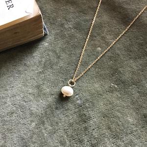 Owly.original necklace (淡水パール・ハーキマークォーツ)