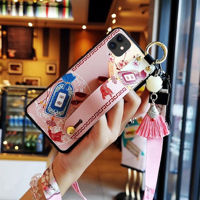 【YOUPINシリーズ】★チャイナ風携帯ケース★お守り 2color選択可能 iPhone 11 11Pro 11ProMax XR X/XS XS Max 7/8 plus