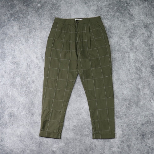 """【Universal Works.】 PLEATED PANT  """"OLIVE""""  Patchwork Fine Twill  ユニバーサルワークス"""
