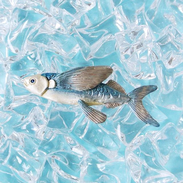 《魚/トビウオ》 ブローチ ハマトビウオ Palnart Poc パルナートポック 飛魚 アゴ PB076