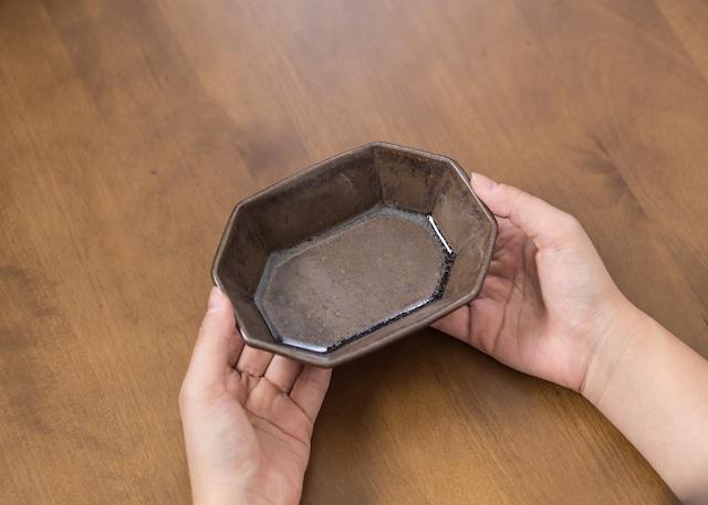 褐色釉 八角鉢(小鉢)/くるり窯