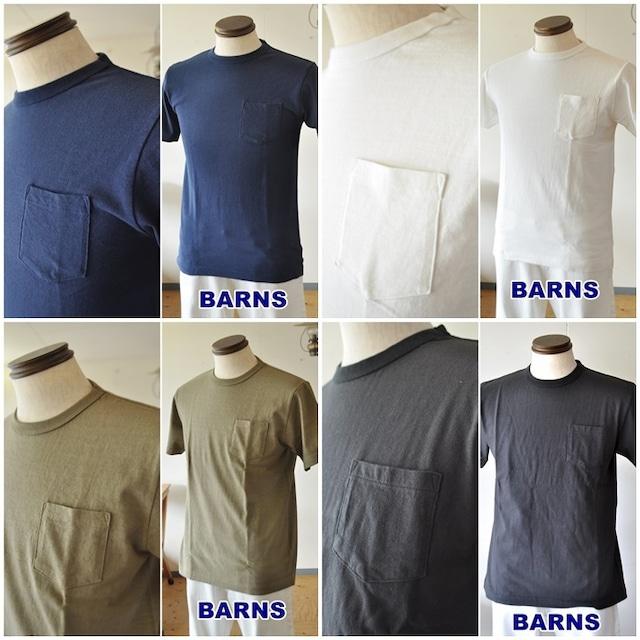 BARNS バーンズ ポケットTシャツ 吊り編みT BR-11000 無地T