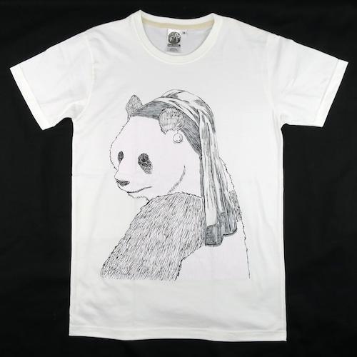 フェルメールの絵より可愛い?「真珠の耳飾りのパンダ」Tシャツ