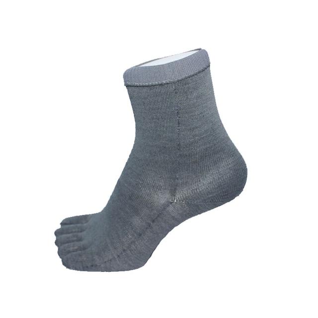 Inner-Fact 5Finger Middle Socks (Light Grey)