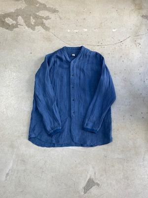 DA'S / New Baseball Shirt/ grayish blue(ダズのニューベースボールシャツ(前開き) グレイッシュブルー)