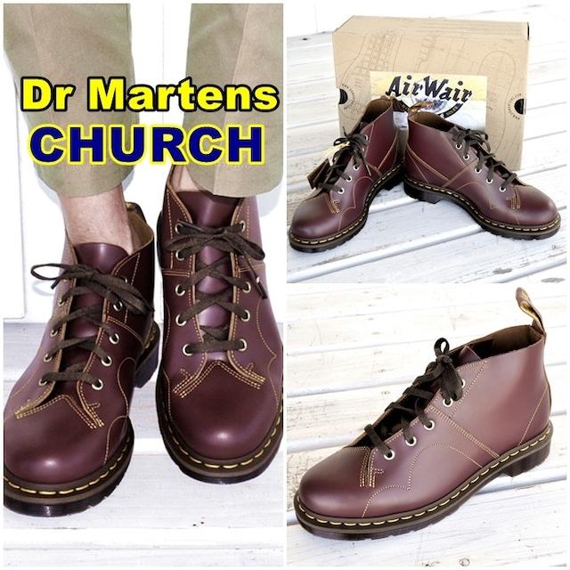 drmartens ドクターマーチン CHURCH チャーチ モンキーブーツ 16054001 ブラックビンテージ スムースレザー 送料無料 ARCHIVE CHURCH