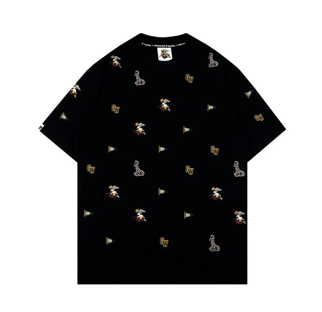 【GRAF】モノグラム刺繍Tシャツ